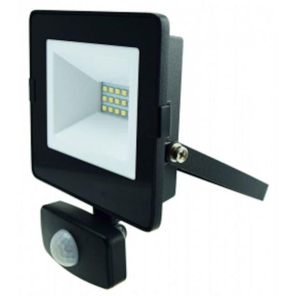 LED-HEITIN PIR 10 W 800L PIR MUSTA