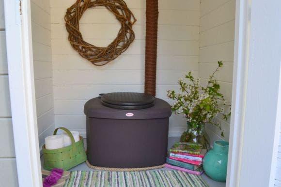 Biolan kompostikäymälä eco 220l  tumman harmaa