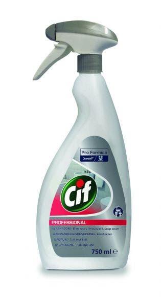 Cif Professional Badrum 2in1 750ml Effektivt kalk-, smuts-, och tvålavlagningar, efterlämnar en fräsch doft 7517907